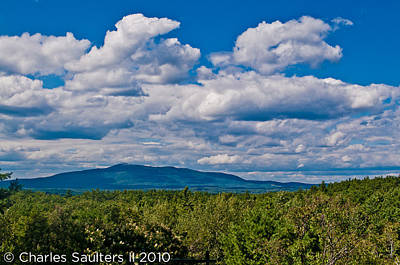 Clouds And The Mountain Art Print by Charles Saulters II