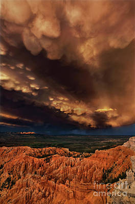 Photograph - Clouds And Thunderstorm Bryce Canyon National Park  by Dave Welling