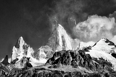 Photograph - Clouds Around Fitz Roy #2 - Patagonia by Stuart Litoff