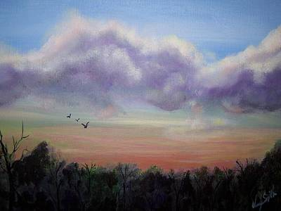 Clouds At Dusk Art Print by Wendy Smith