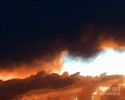 Storm Clouds Painting - Clouds At Sunset by Methune Hively