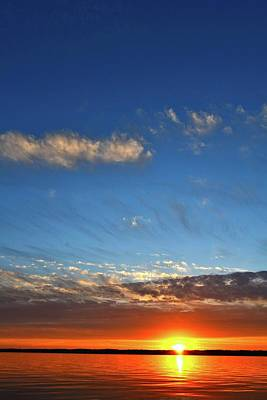 Photograph - Clouds At Sunset Two  by Lyle Crump