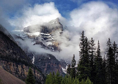 Photograph - Clouds At Ten Peaks  by Art Cole