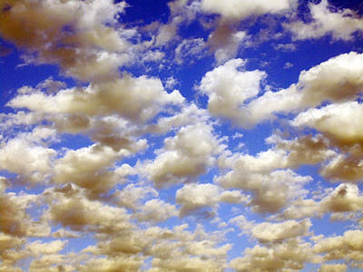 Clouds Blue Sky Art Print by Jana Russon