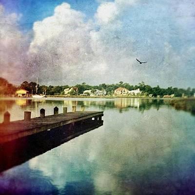Reflection Wall Art - Photograph - Clouds Building #morningalongthebayou by Joan McCool