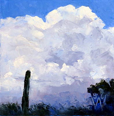 Painting - Clouds Building by Susan Woodward