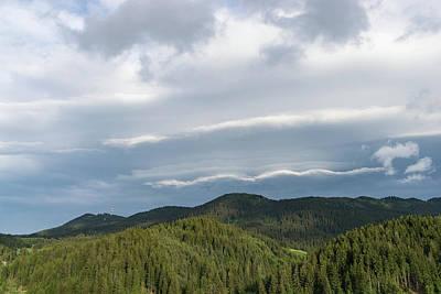 Photograph - Clouds Echoing Mountains by Georgia Mizuleva
