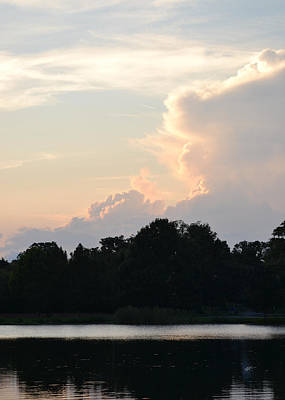 Photograph - Clouds Facing Sunset by rd Erickson