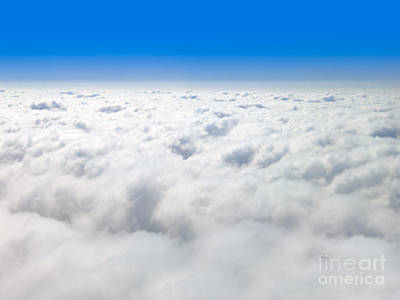 The View Photograph - Clouds From Above And Blue Sky Horizon by Paul Velgos