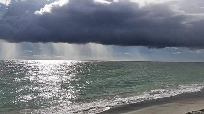 Photograph - Clouds Gather Over Captiva by Florene Welebny