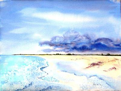 Painting - Clouds Gathering Over Anegada by Diane Kirk