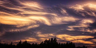 Riddler Photograph - Clouds Gone Crazy by Ian Riddler