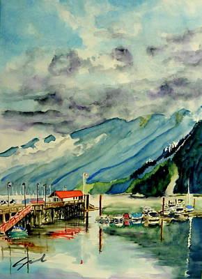 Wall Art - Painting - Clouds II by Sonia Mocnik