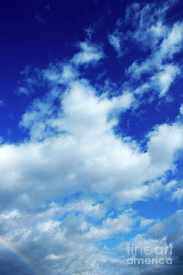 Clouds In A Beautiful Blue Sky Art Print by Sami Sarkis
