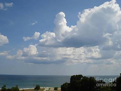 Clouds In August Art Print by John  Bichler