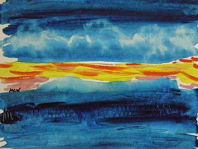 Painting - Clouds In Deep Blue Sky by Mary Carol Williams