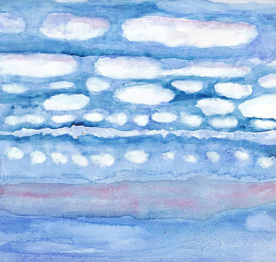 Painting - Clouds In My Head by Linda Kay Thomas
