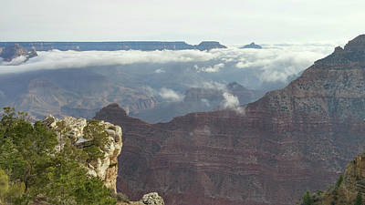 Photograph - Clouds In The Grand Canyon by Liza Eckardt