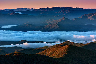 Smokey Mountains Photograph - Clouds In The Valley by Rick Berk