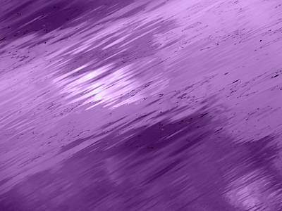 Photograph - Clouds In The Water - Purple Plum Abstract by Gill Billington