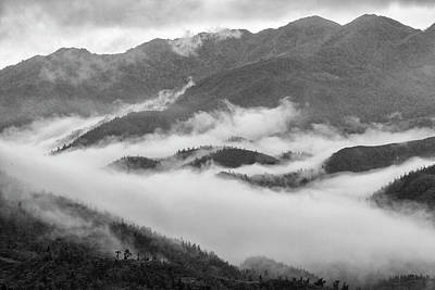 Art Print featuring the photograph Clouds In Valley, Sa Pa, 2014 by Hitendra SINKAR