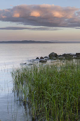 Lake Champlain Photograph - Clouds-lake Champlain-vermont-summer-sunrise by Andy Gimino