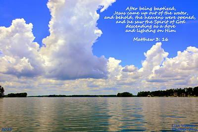 Photograph - Clouds Matthew 3 16 by Lisa Wooten