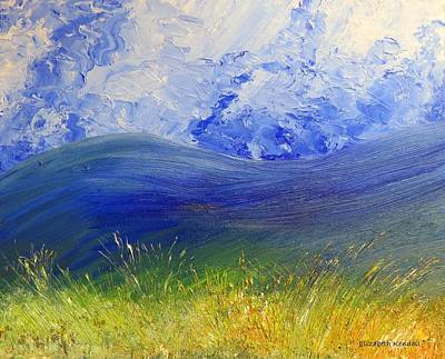 Painting - Clouds, Mountains And Grasslands by Elizabeth Kendall