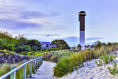 Photograph - Clouds Move In Over Lighthouse - Sullivan's Island Sc by Donnie Whitaker