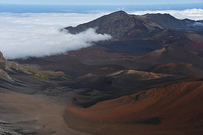 Photograph - Clouds Moving Into Haleakala by Jennifer Ancker