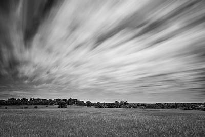 Photograph - Clouds Moving Over East Texas Field by Todd Aaron