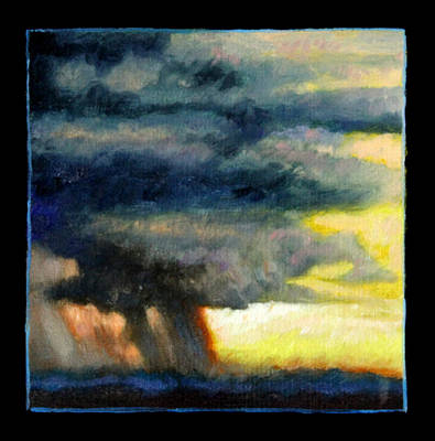 Painting - Clouds Number Eight by John Lautermilch