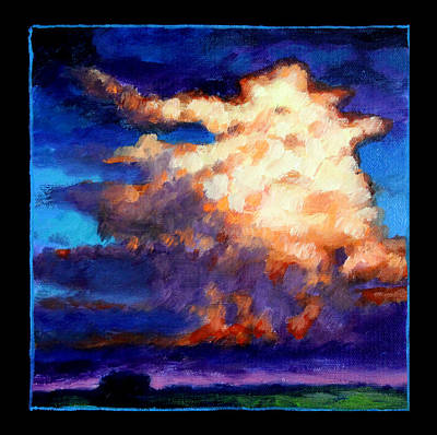 Painting - Clouds Number Four by John Lautermilch