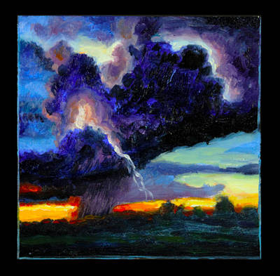 Painting - Clouds Number Six by John Lautermilch