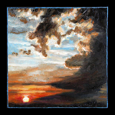 Painting - Clouds Number Two by John Lautermilch