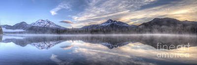 Bend Oregon Photograph - Clouds Of Morning Over Mountains by Twenty Two North Photography