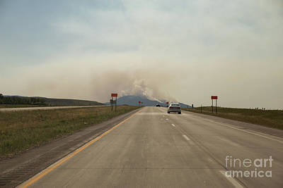 Nikki Vig Royalty-Free and Rights-Managed Images - Clouds of Smoke Billowing off Spearfish by Nikki Vig