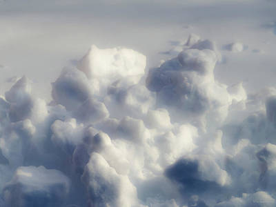 Blue Abstract Photograph - Clouds Of Snow by Wim Lanclus