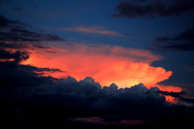 Photograph - Clouds On Fire by John Foote