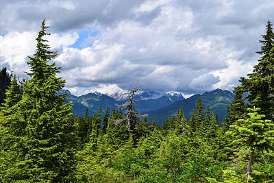 Photograph - Clouds On Mt Shuksan by Tom Cochran