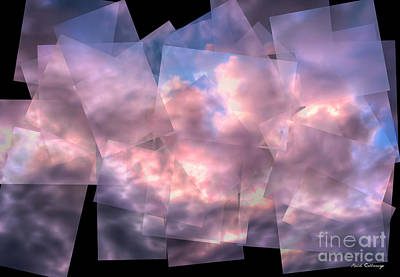 Photograph - Clouds On Paper Abstract Art by Reid Callaway