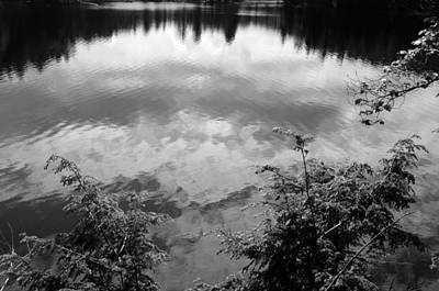 Clouds On Rock Pond Art Print