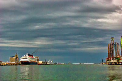 Photograph - Clouds On The Harbor by Robert Brown