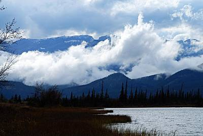 Photograph - Clouds On The Mountains by Larry Ricker