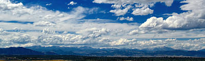 Photograph - Clouds On The Rocky Mountains - Photography  by Ann Powell