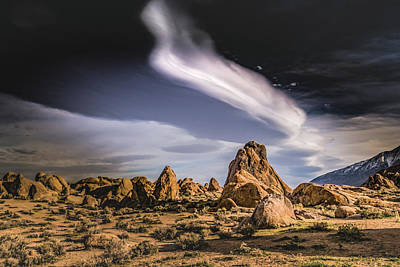 Photograph - Clouds Over Alabama Hills by Janis Knight