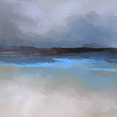 Mixed Media - Clouds Over Beach by Anthony Fishburne