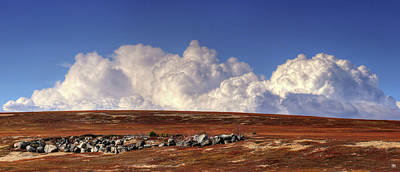 Photograph - Clouds Over Blueberry Barren by John Meader