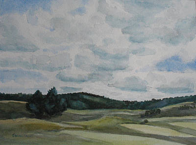 Clouds Over Boot Hill Original by Jenny Armitage