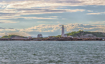 Photograph - Clouds Over Boston Lighthouse by Brian MacLean